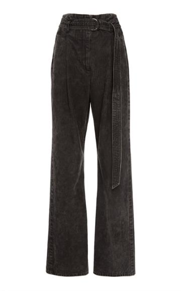 Sally Lapointe High-rise Belted Straight-leg Jeans