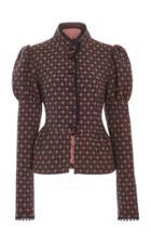 Anna Sui Floral Jacquards Jacket