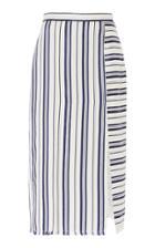 Moda Operandi Altuzarra Scrimshaw Slit Striped Midi Skirt Size: 36