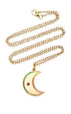 Andrea Fohrman Crescent Moon Multi-sapphire Necklace