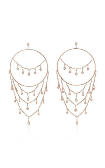 Jacquie Aiche Diamond Drip Chain Round Hoops