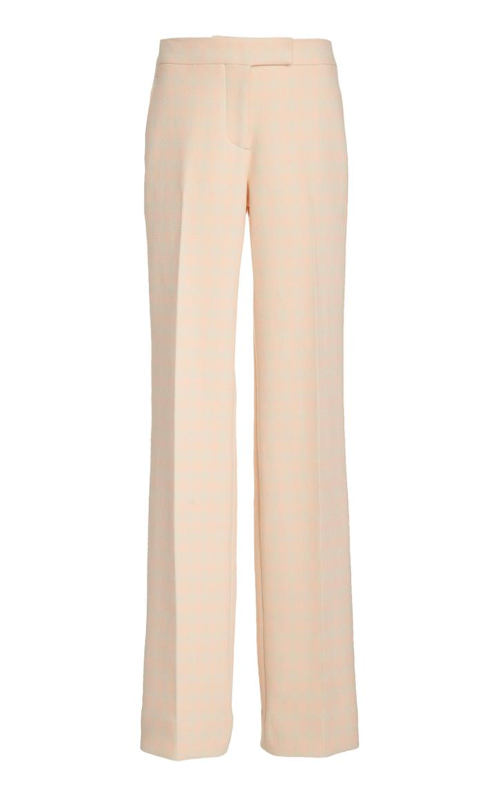 Moda Operandi Marina Moscone Straight-leg Cotton-blend Pants