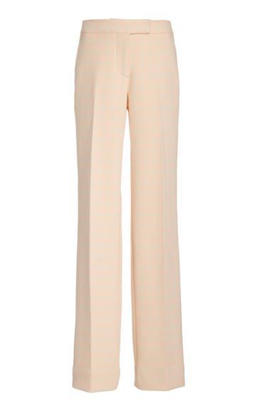 Moda Operandi Marina Moscone Straight-leg Cotton-blend Pants