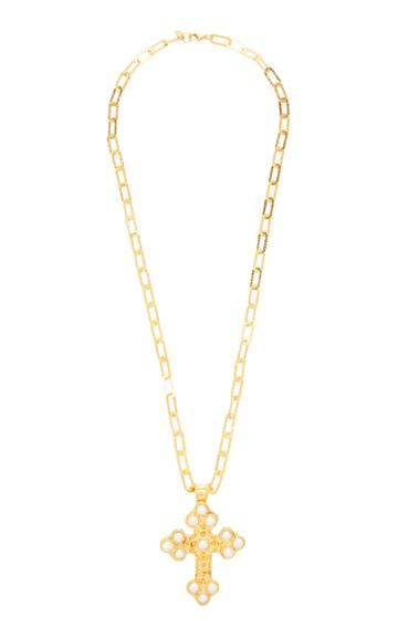 Sylvia Toledano Croix Gold-plated And Pearl Necklace