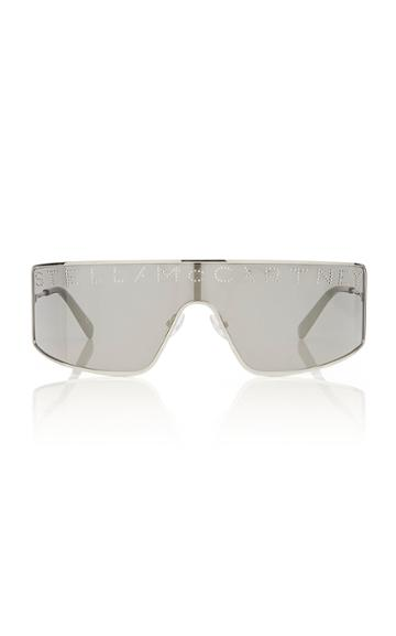 Stella Mccartney Sunglasses Logo Stud-embellished Silver-tone Sunglasses