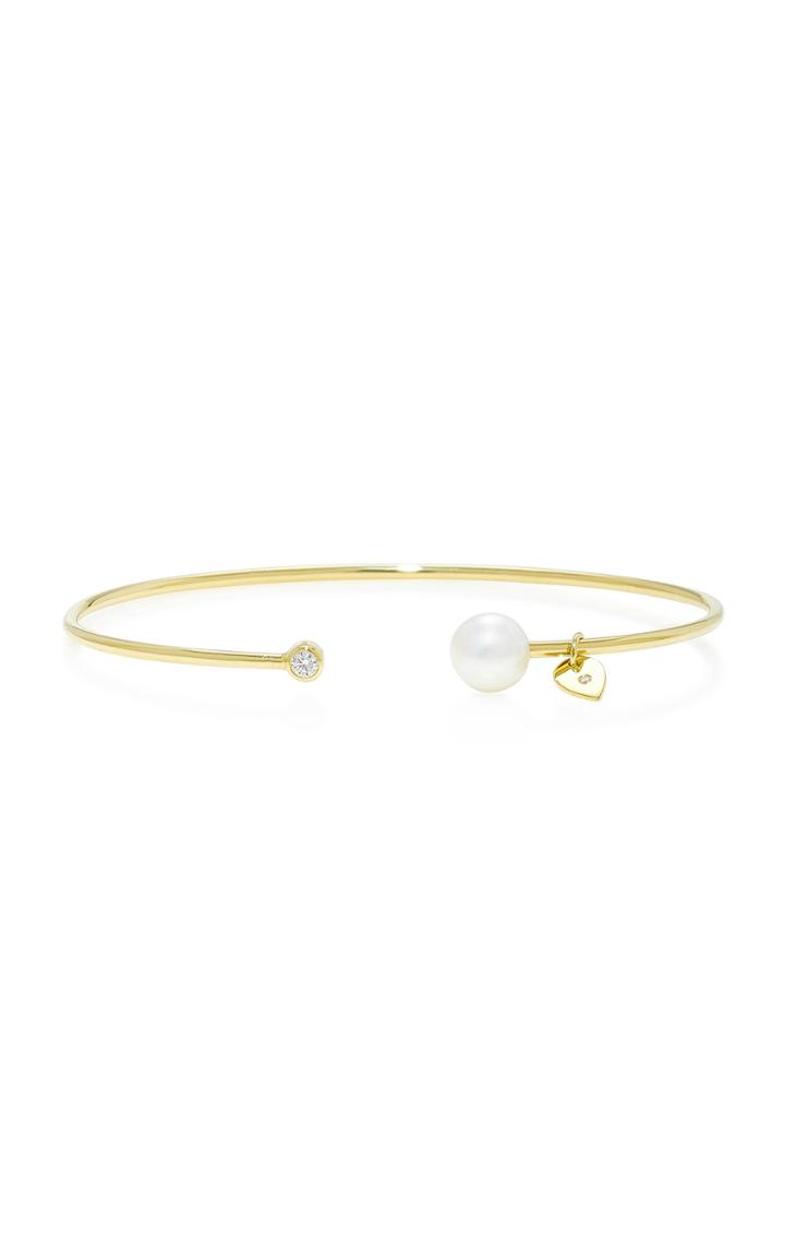 Jemma Wynne Pearl Open Bangle