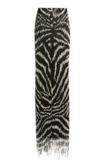 Moda Operandi Tom Ford Two-tone Fringed Maxi Skirt