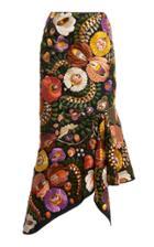 Moda Operandi Tom Ford Embroidered Cotton Midi Skirt