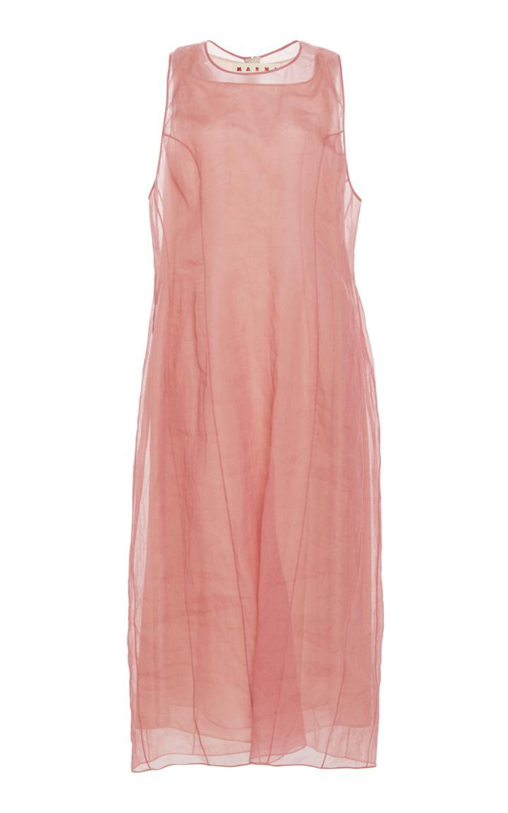 Marni Sleeveless Floral Mini Dress