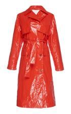 Msgm Crinkled Trench Coat