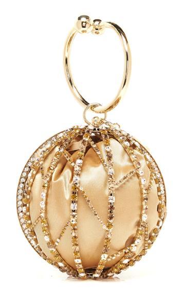 Rosantica Alice Crystal-embellished Gold-tone Top Handle Bag