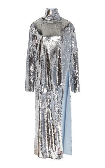 Bouguessa Asymmetrical Sequins Long Top