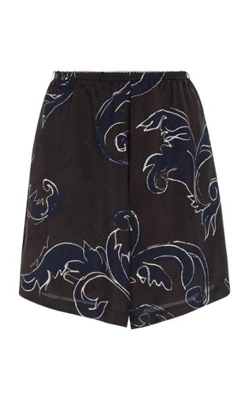 Nina Ricci Feather Print Jacquard Short