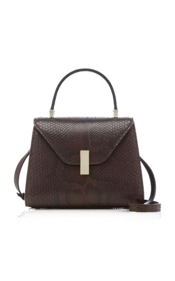 Valextra Iside Small Python Top Handle Bag
