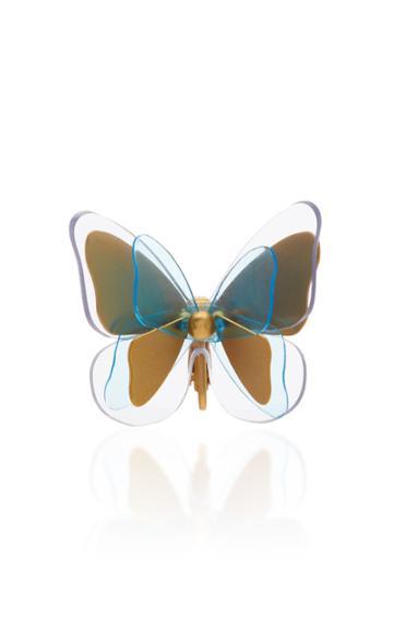 Zimmermann Butterfly Gold-plated Resin Ear Cuff
