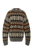 Michael Kors Collection Handknit Fair Isle Pullover