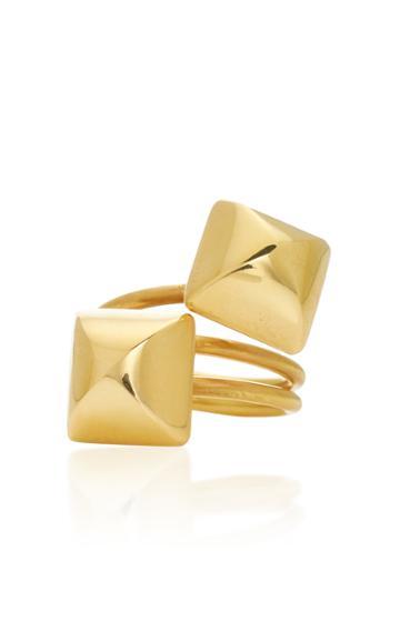 Christina Alexiou Small Gold Pyramid Ring