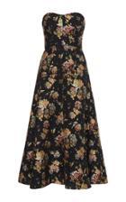 Rochas Fil Coupe Strapless Dress