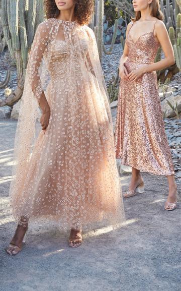 Moda Operandi Monique Lhuillier Daisy Glittered Tulle Dress