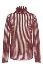 Ellery Beatnik Semi Sheer Striped Knit Top