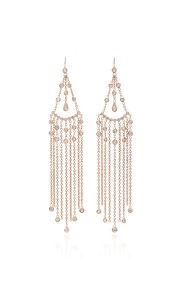 Jacquie Aiche Diamond Teardrop Chain Shower Earrings