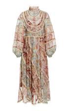 Moda Operandi Zimmermann Ladybeetle Spliced Midi Dress