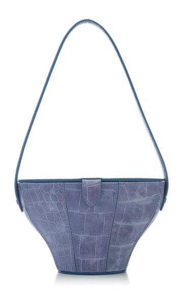 Staud Alice Croc-effect Leather Bag