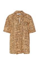 Faithfull The Brand Charlita Zebra-print Linen Shirt