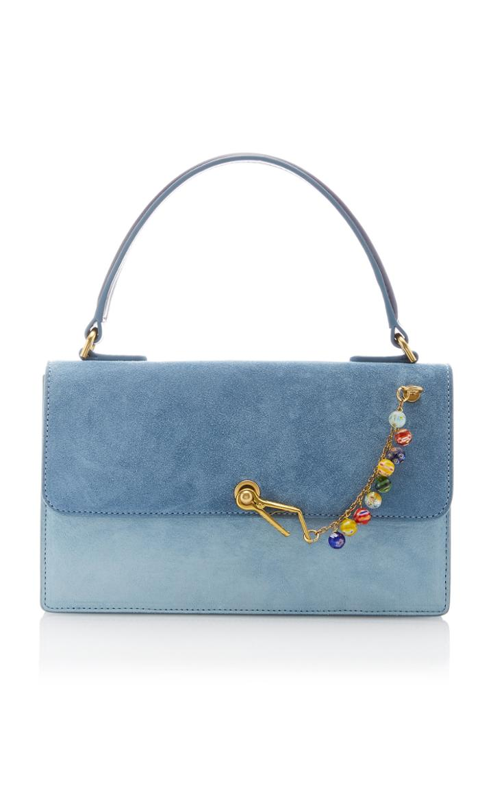 Moda Operandi Staud Jackie Two-tone Suede Top Handle Bag