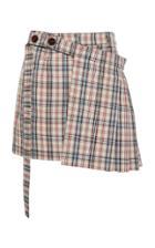 Isa Arfen Tartain Kilt Skirt