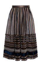 Moda Operandi Lena Hoschek Leyla Ribbon-detailed Chiffon Midi Skirt