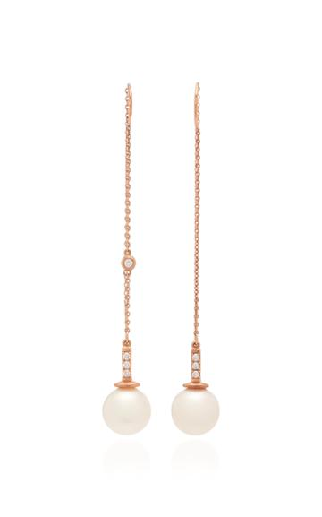 Joie Digiovanni 14k Gold Diamond And Pearl Earrings