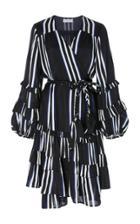 Apiece Apart Zarza Ruffle Wrap Mini Dress