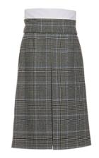 Ji Oh Highwaist Plaid Inside Out Skirt