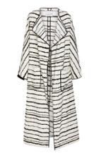 Bouguessa Tweed Striped Long Cardigan
