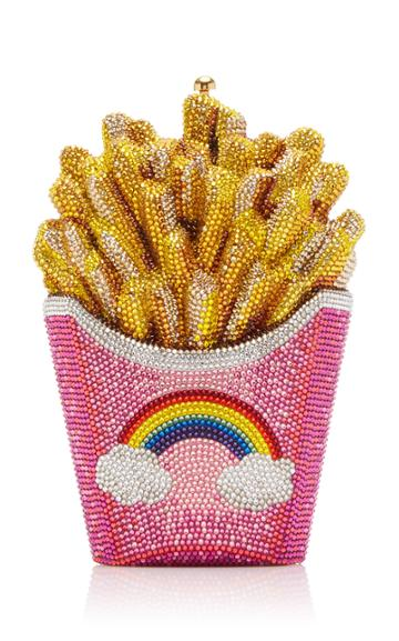 Judith Leiber Couture Rainbow Fries Crystal-embellished Clutch