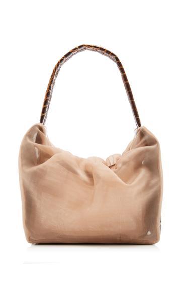 Staud Felix Leather And Gauze Top-handle Bag