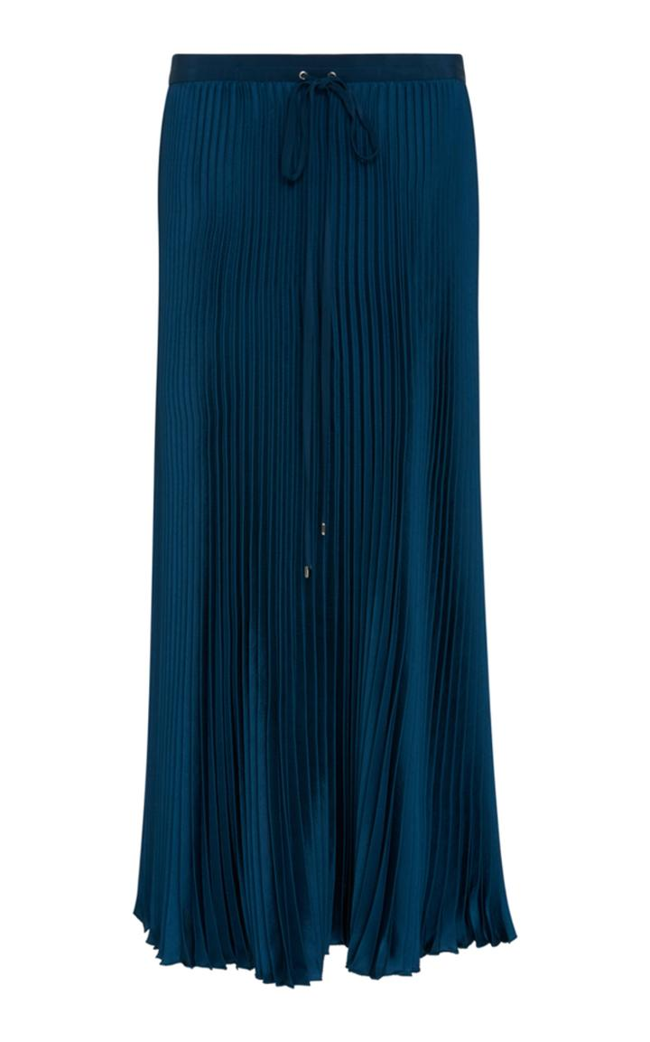Tibi Twill Pleated Skirt