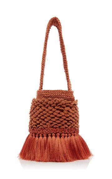 Johanna Ortiz Honey Lavender Woven Bag