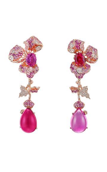 Moda Operandi Anabela Chan 18k Rose Gold Sunset Orchid Earrings