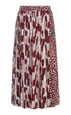 Prada Pleated Printed Midi Skirt
