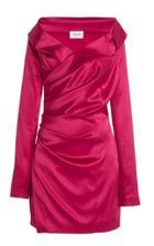 Moda Operandi Redemption Draped Stretch Silk Satin Mini Dress