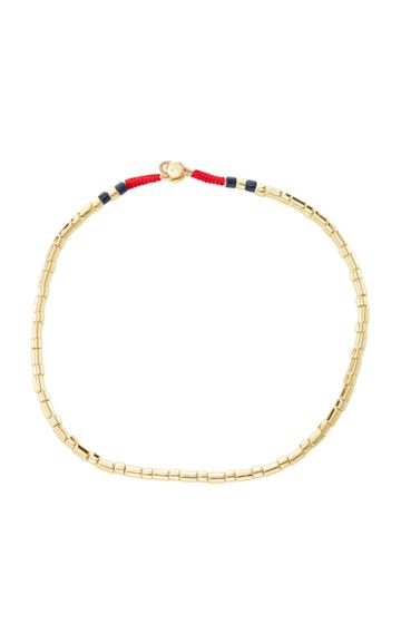 Roxanne Assoulin Peacoat U-tube Bright Gold Necklace