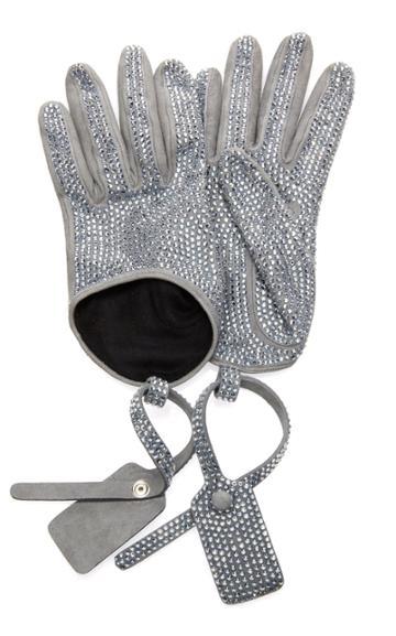 Off-white C/o Virgil Abloh Crystal Zip Tie Gloves