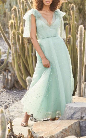 Moda Operandi Monique Lhuillier Mini Star Glittered Tulle Dress