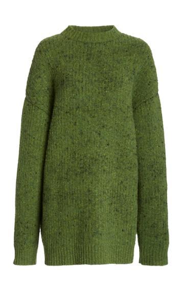 Moda Operandi Marina Moscone Ribbed-knit Wool-blend Sweater