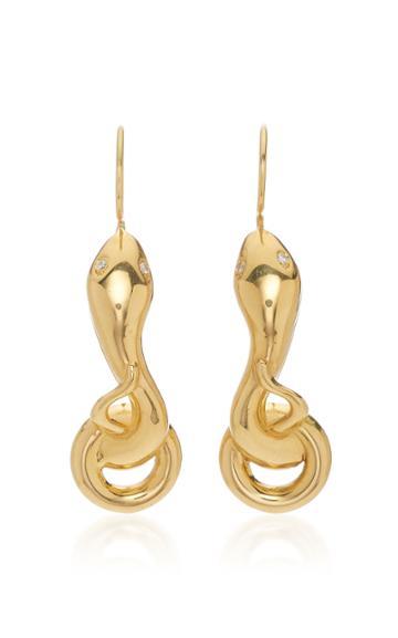 Christina Alexiou Small Snake Earrings