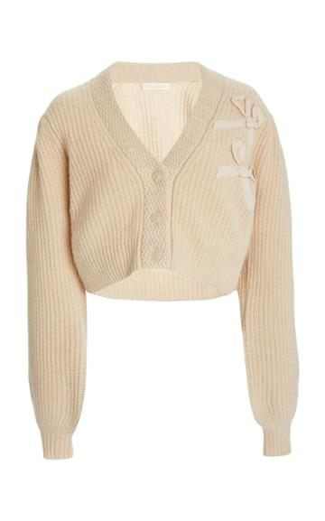 Loveshackfancy Avignon Cropped Cashmere Cardigan Sweater