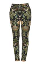 Lena Hoschek Printed Stretch-cotton Skinny Pants