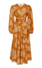Moda Operandi Zimmermann Wavelength Waist Tie Midi Dress Size: 0